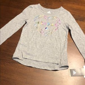 NWT toddler girls adidas top size 4t
